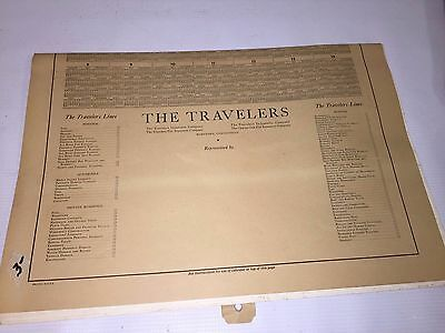 Currier & Ives - The Travellers Calendar - 1948 - Classic Art -Great Piece!