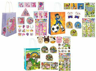 Childrens Pre Filled Party Bags Birthday Ready Made Boys Girls Loot Paper Bag