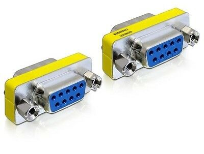 Delock Serial D-sub Gender Changer Sub-D9 female / female with screw nuts