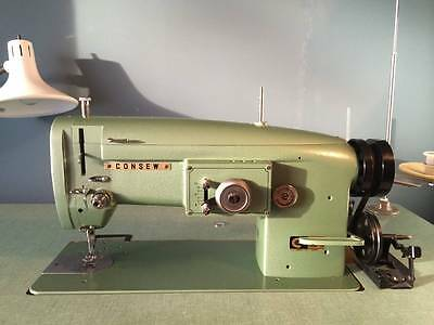consew industrial sewing machine 199R-1A with motor and stand