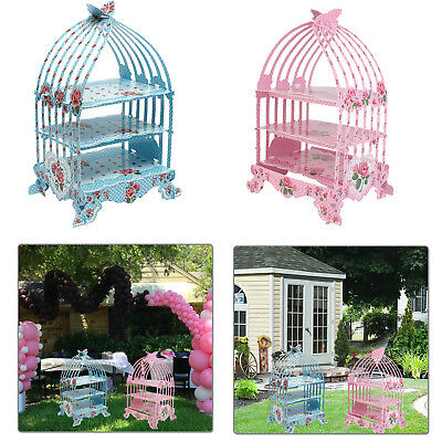 Vintage Birdcage Cupcake Stand Holder 3 Tier Stylish Designed Birthday Wedding