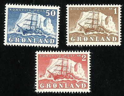 1950 Greenland Stamps Sct #35-37 All MINT, VF, Light H
