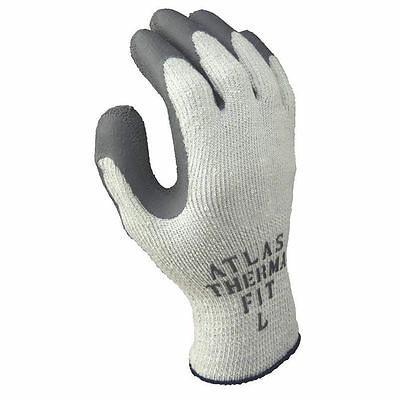 Atlas ThermaFit 451L-09.RT Ergonomic Work Gloves, Large, Gray