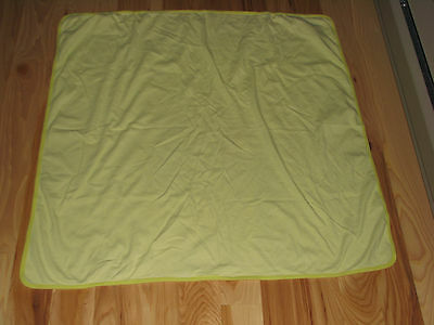 Carters Os Baby Blanket White Lime Green Stripe Thin 1-Ply Cotton Swaddle
