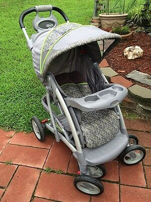SLING, CANOPY & STORAGE BASKET for Graco Quattro Tour stroller - No Stoller