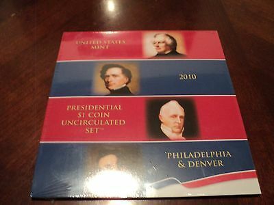 2010 Presidential $1 Coin Uncirculated US Mint Set P & D Sealed