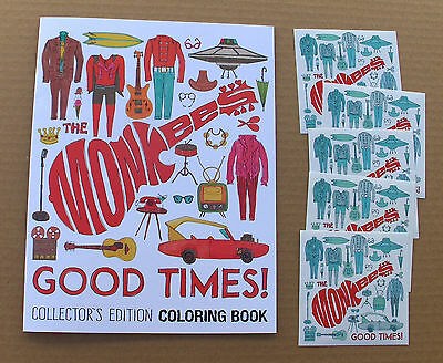 THE MONKEES - Good Times! Coloring Book + 5 Stickers / PROMO