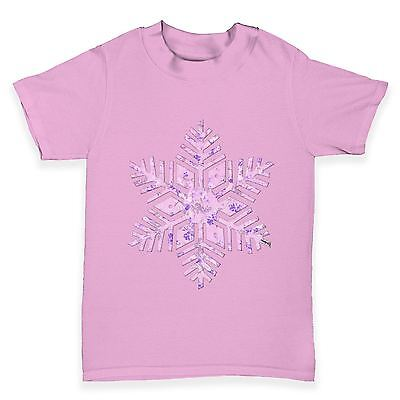 Twisted Envy Pink Snowflake Baby Toddler Funny T-Shirt