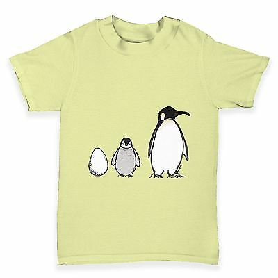Twisted Envy Egg To Penguin Baby Toddler Funny T-Shirt