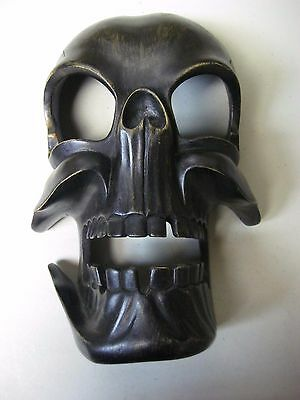 """Balinese Wood Hand Carved Skull Mask From Indonesia - Approx 12"""""""