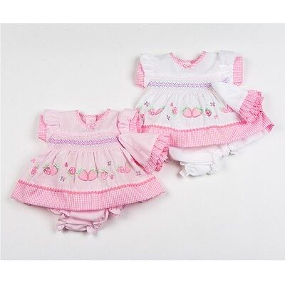 Premature Baby Girl Clothes Tiny Dress set Hat Knickers Pink  reborn 3 - 10 lbs