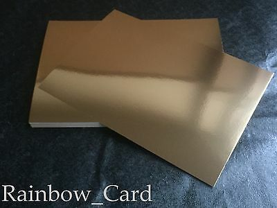 20 Sheets - Gold Mirror A4 Crafting Card 280 Gsm