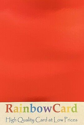 20 Sheets - Red Mirror A4 Crafting Card 310 Gsm