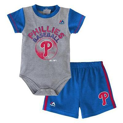 Philadelphia Phillies Baby Infant Creeper Shorts Set (FREE SHIPPING) 3-6 months
