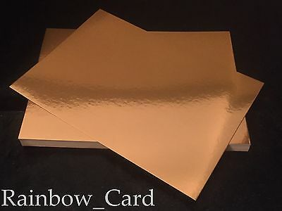 20 Sheets - Antique Gold Mirror A4 Crafting Card 300 Gsm