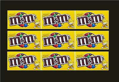 9 VENDSTAR 3000 VENDING MACHINE CANDY STICKERS LABEL  Free Shipping MM PEANUT