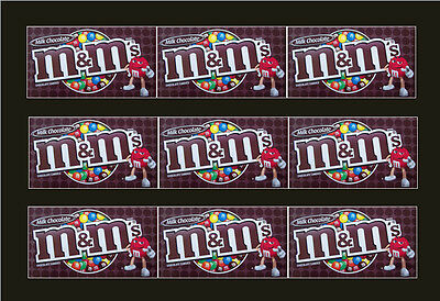 9 VENDSTAR 3000 VENDING MACHINE CANDY STICKERS LABEL  Free Shipping MM PLAIN
