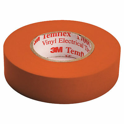3M Temflex Electrical Tape, 3/4 in W x 66 ft L, 7 mil T, 600 V, Rubber Resin, Or