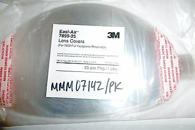 NEW 3M Lens Covers 7899-25 Pack Of 25 Sealed Respiratory Protection