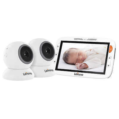 Levana Alexa Video Baby Monitor with Temperature Monitoring and 2 Cameras