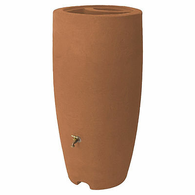 Algreen 86001 Rain Barrel With Spigot, 80 gal, Brass, Plastic, Polyethylene, Ter