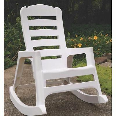 Adams 8080-48-3700 Rocking Chairs, Resin - Stackable, White