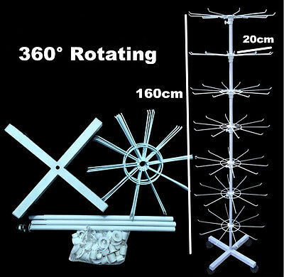 360° Rotating Spinner Display Stand Rack Jewellery Necklace Bracelet Organiser