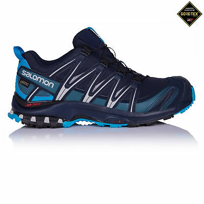 Salomon XA Pro 3D GTX Mens Blue Waterproof Outdoors Walking Hiking Shoes