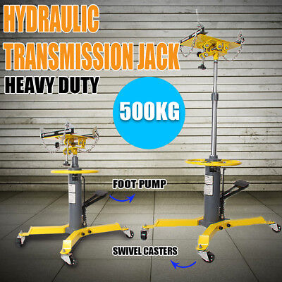 VEH-TOO 0.5 Ton Hydraulic Transmission Jack Stand Car Gearbox Lifter Hoist 500kg