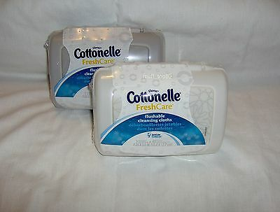 Cottonelle Fresh Care Flushable Cleansing Cloths 2 Packs of 42 Wipes Each