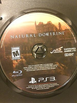 Natural Doctrine for the Sony PS3, Disc Only!