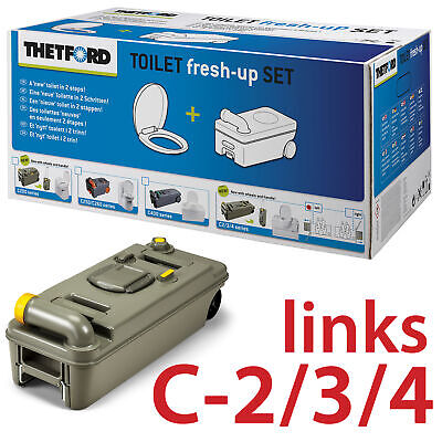 Thetford Fresh Up Set C2 3 4 Cassette Camping Abwasser Fäkalientank Links Neu