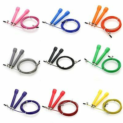 3 Metre Adult Women High Speed Steel Wire Skipping Jump Rope Gym Fitness Rope
