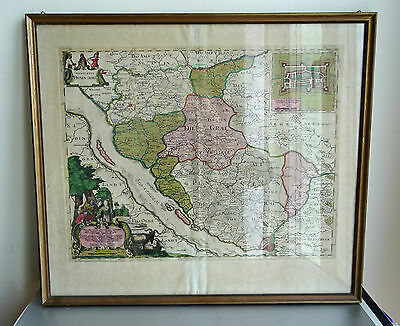 1650 Landkarte Map Joan Blaeu Hamburg Grafschaft Pinneberg Johs Meyer Rare !