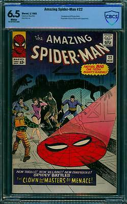 Amazing Spider-Man # 22  The Masters of Menace !  CBCS 6.5  scarce book !