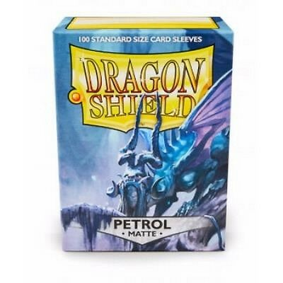 100 Protective Sleeves Dragon Shield Magic MATTE PETROL Bustine Protettive