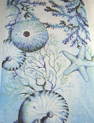 Wonders of the Ocean  Vinyl Tablecloth Easy Care Assorted Sizes Sq. Obl. & Rnd.