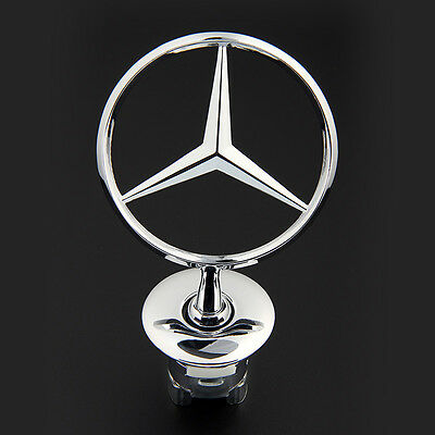3D Mercedes Benz Logo Zinc Alloy Car Frond Hood Ornament Emblem for C E S Series