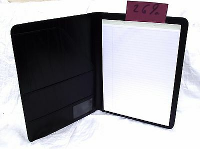 Black  PU A4 Conference Folder style 269