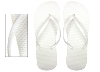 Lot of 48 Pairs Wholesale Women's Solid Plain White Flip Flops Bulk Flip Flop