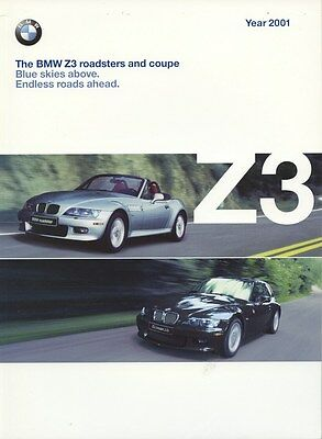 2001 BMW Z3 Roadster & Coupe Prestige Brochure d0753