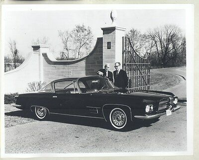 1966 Ghia L6.4 Virgil Exner Paul Gargo ORIGINAL Factory Photo Press Sheet ww7290