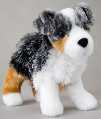 "STEWARD AUSTRALIAN SHEPHERD Douglas Cuddle 7"" stuffed plush animal toy dog puppy"