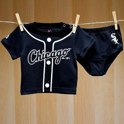 Chicago White Sox Baby Infant Jersey Black Diaper Shorts (FREE SHIPPING) 6-9 mo