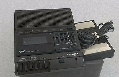 PANASONIC RR-830 DICTATION TRANSCRIBER RECORDER w FOOT CONTROL FREE SHIPPING