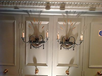 Late Eighteenth Century Wheat sheaf Styled Wall Lights.A pair.