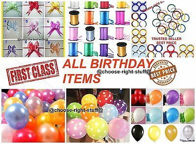 10-100 Pearlised Metallic Balloons For Birthdays Party Wedding Helium Gas Baloon