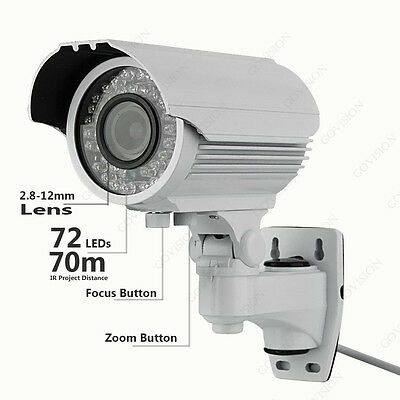 2.4MP 1080P HD Camera 2.8-12MM VARIFOCAL BULLE  Night Vision Home Security CCTV