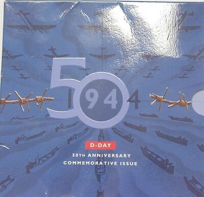 1994 D-Day 50th Anniversary Commemorative Issue 50 pence coin in folder