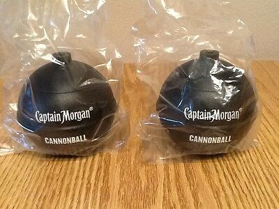 Lot of 2 NEW Captain Morgan Cannonball Plastic Cups Rum